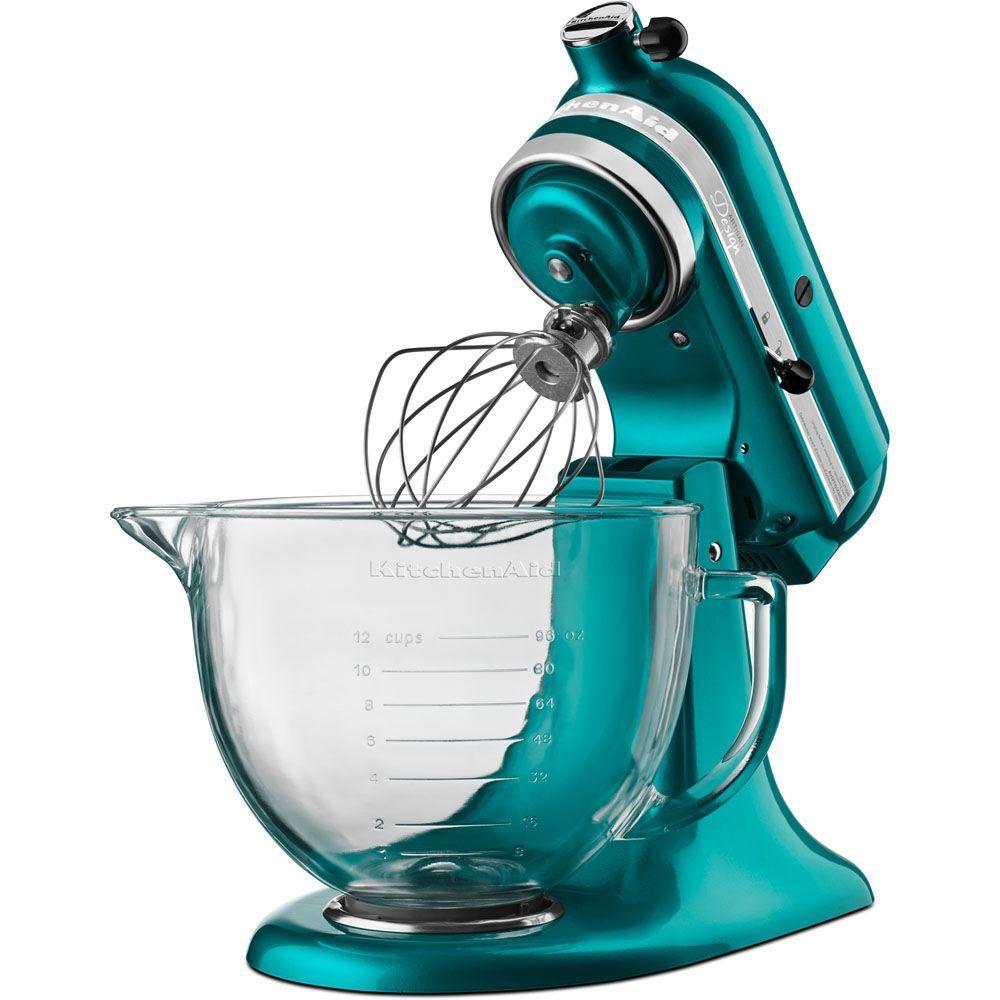 Kitchenaid Designer 5 Qt Sea Gl Stand Mixer Ksm155gbsa The Home Depot