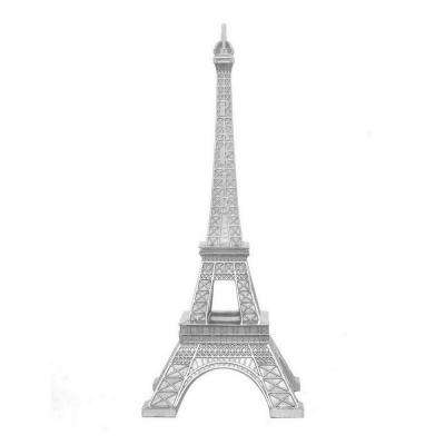 Silver Resin Eiffel Tower Tabletop Decor In Silver