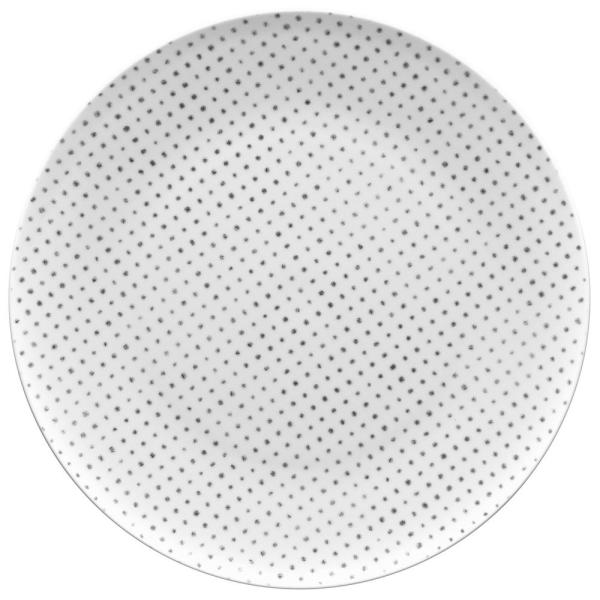 11 in. Grey Hammock Dots Coupe Dinner Plate