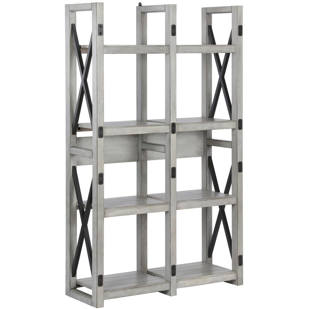 Ameriwood Home Forest Grove Rustic White Bookcase Room Divider