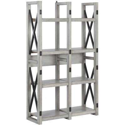 Forest Grove Rustic White Bookcase/Room Divider