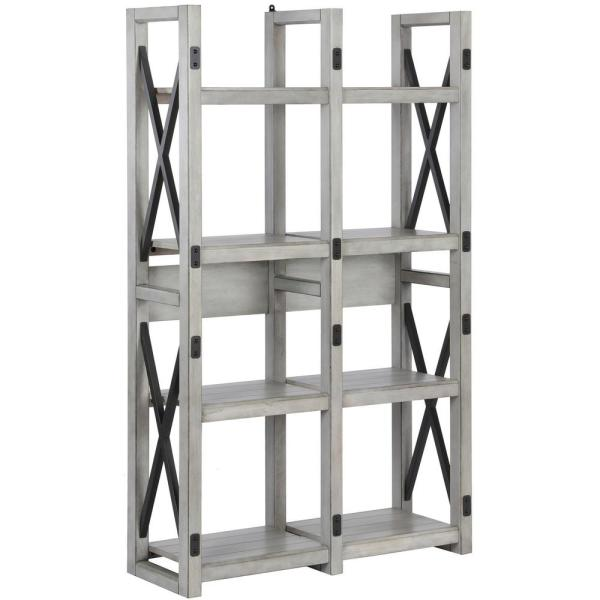 Ameriwood Home Forest Grove Rustic White Bookcase/Room Divider HD28786