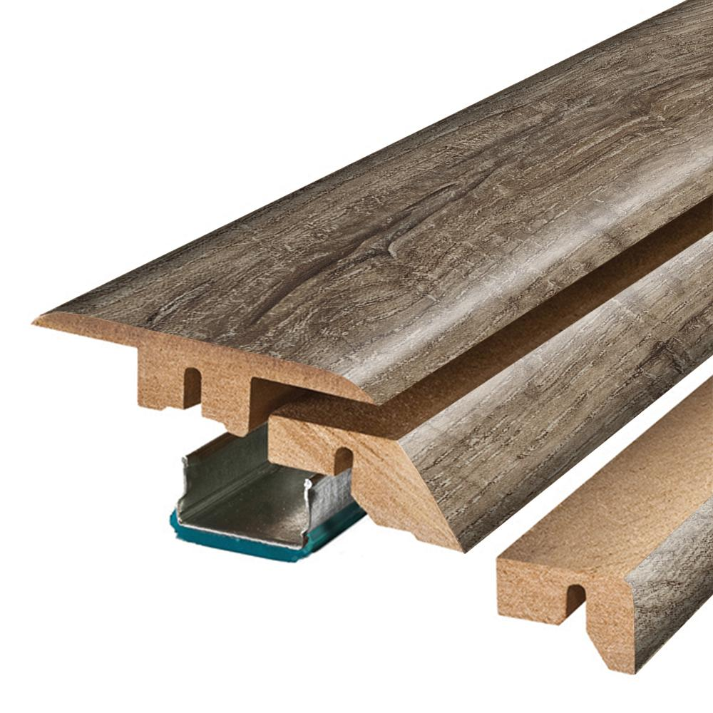 Pergo Cashmere Oak 3/4 in. Thick x 2-1/8 in. Wide x 78-3/4 in. Length Laminate 4-in-1 Molding