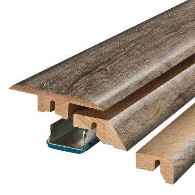 Cashmere Oak 3/4 in. Thick x 2-1/8 in. Wide x 78-3/4 in. Length Laminate 4-in-1 Molding