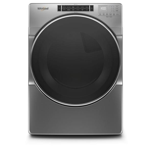 7.4 cu. ft. 240-Volt Chrome Shadow Stackable Electric Dryer with Steam and Intuitive Touch Controls, ENERGY STAR