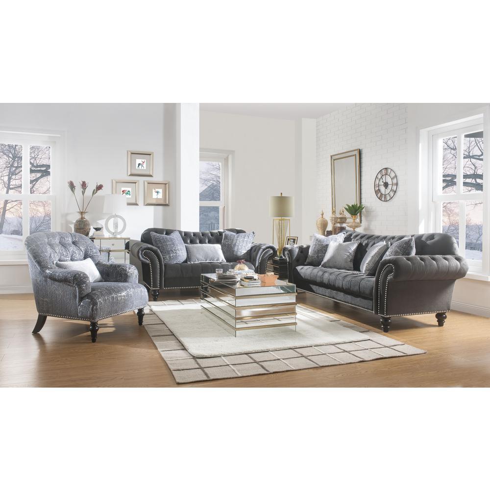 Acme Furniture Gaura Dark Gray Fabric Sofa 53090 - The Home ...