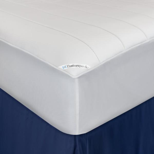 Extra Thick Wave Quilted Mattress Pad Polyester with Polyfill Home Decor Bedding