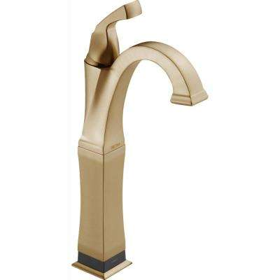 Dryden Single Hole Single-Handle Vessel Bathroom Faucet with Touch2O.xt Technology in Champagne Bronze