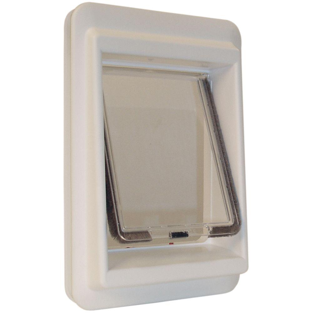 Ideal Pet 7 in. x 9 in. Small Plastic Electronic Cat Flap with Magnetic E-Collar