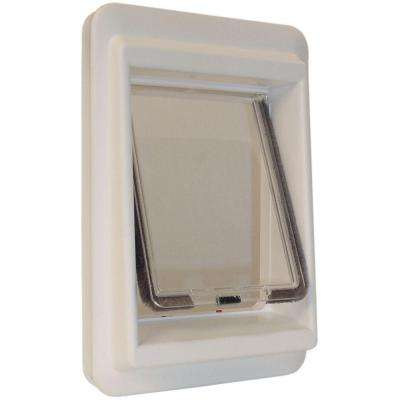 7 in. x 9 in. Small Plastic Electronic Cat Flap with Magnetic E-Collar