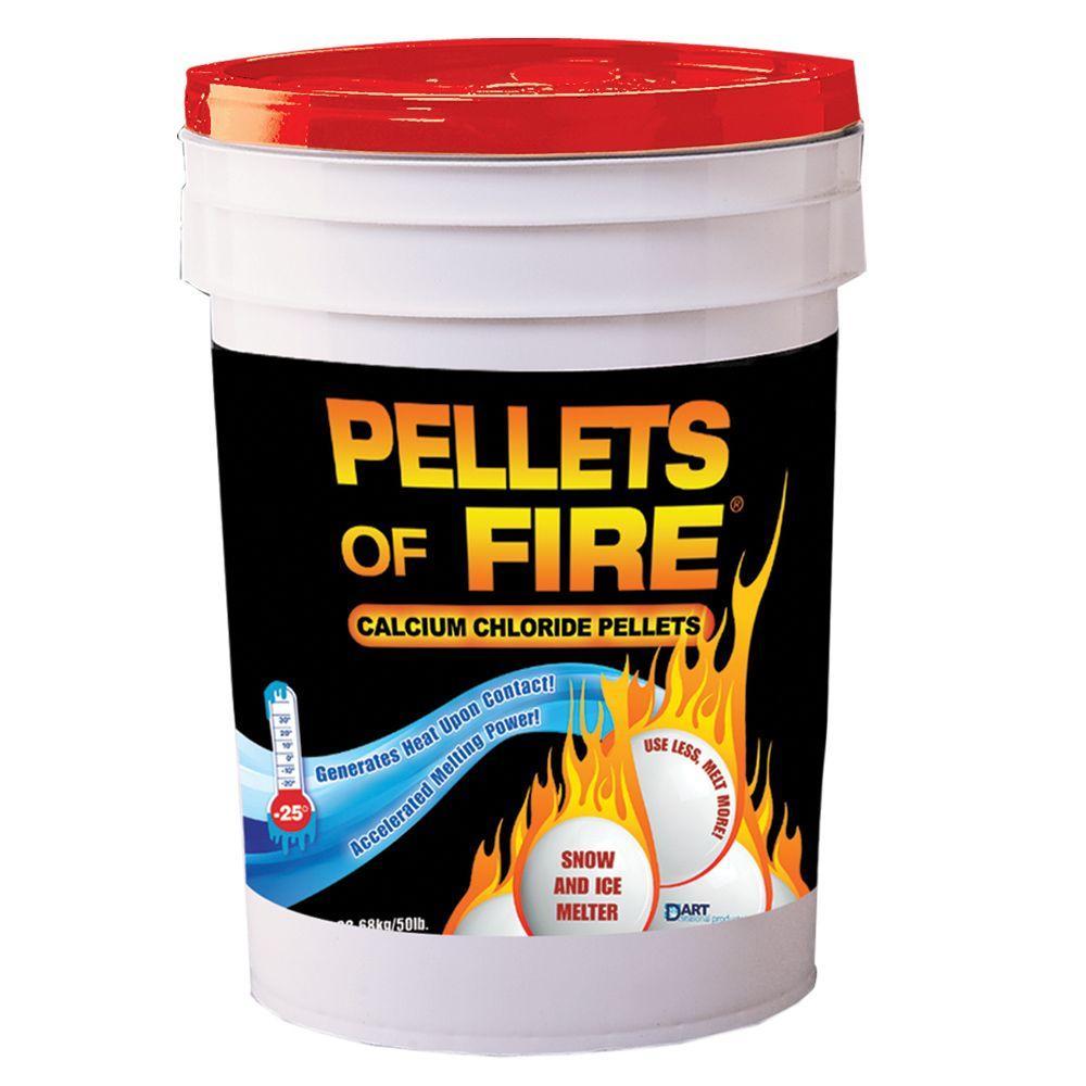 50 lbs. Pellets of Fire Calcium Chloride Ice Melt Pellets