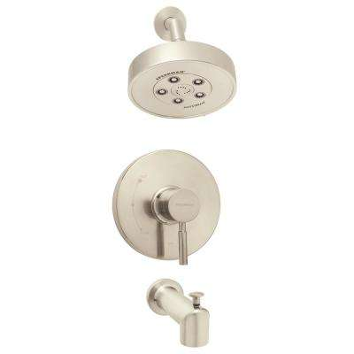 Neo Single-Handle 3-Spray Shower and Tub Combination in Brushed Nickel (Valve Included)