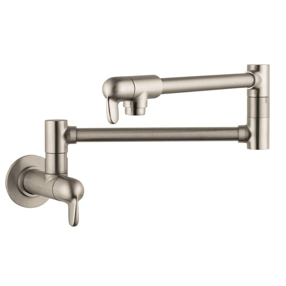 Hansgrohe Allegro E Wall-Mounted Potfiller in Steel Optik