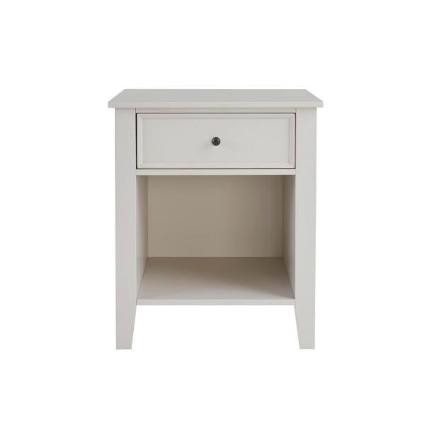 Rigby 1 Drawer Biscuit Beige Wood Nightstand (22 in W. X 26 in H.)