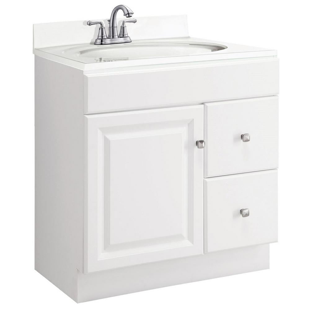 Marvelous Design House Wyndham 30 In W X 18 In D Unassembled Vanity Cabinet Only In White Semi Gloss Download Free Architecture Designs Scobabritishbridgeorg