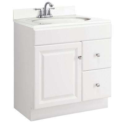 Wyndham 30 in. W x 18 in. D Unassembled Vanity Cabinet Only in White Semi-Gloss