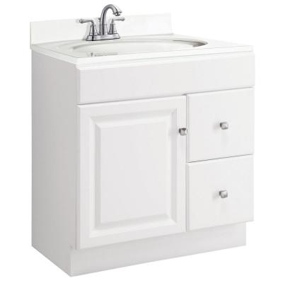 Wyndham 30 in. W x 18 in. D Unassembled Bath Vanity Cabinet Only in White Semi-Gloss