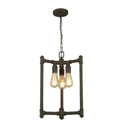 Rivertown 3-Light Rustic Bronze Chandelier