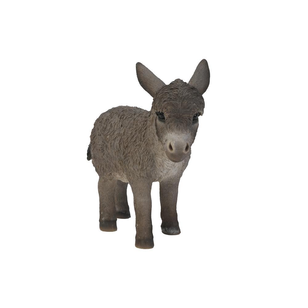 Medium Donkey Standing Looking Right Garden Statue