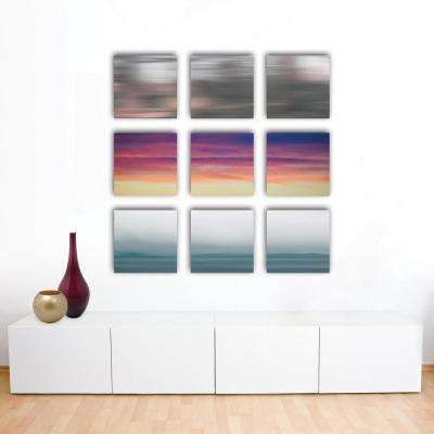 "Nexxt 12 in. x 12 in. ""Purple Haze"" Abstract 3-Panel Canvas Wall Art Set"