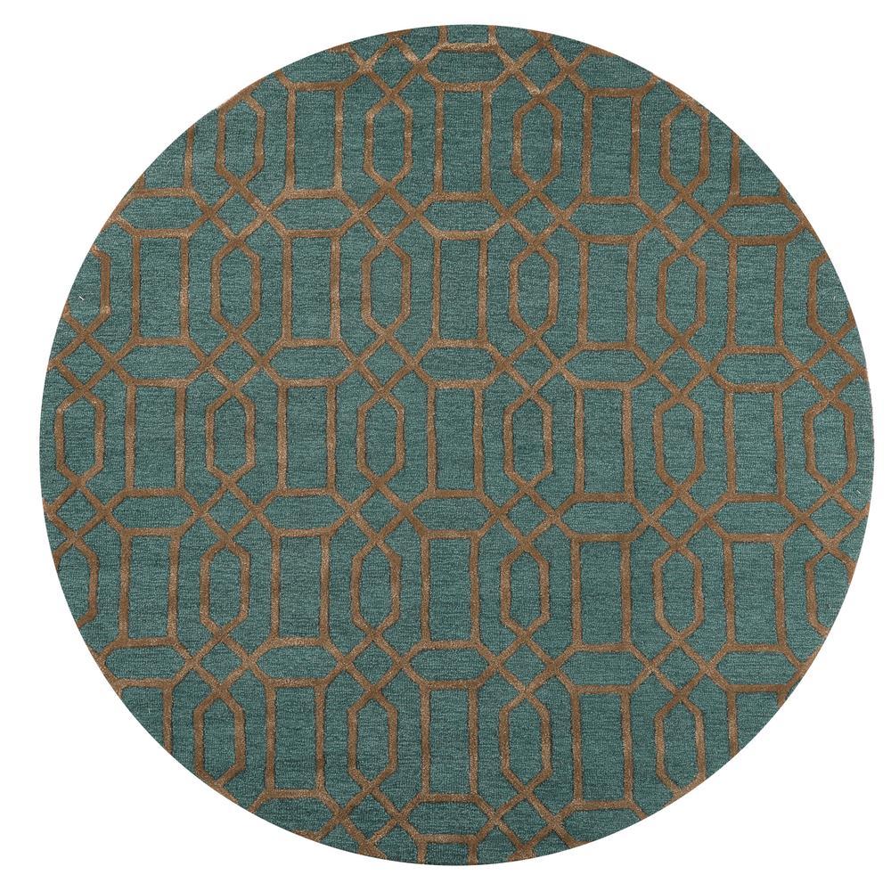 home decorators collection capital teal 8 ft x 8 ft round area rug 9206960330 the home depot. Black Bedroom Furniture Sets. Home Design Ideas