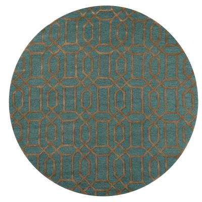 Capital Teal 8 ft. x 8 ft. Round Area Rug