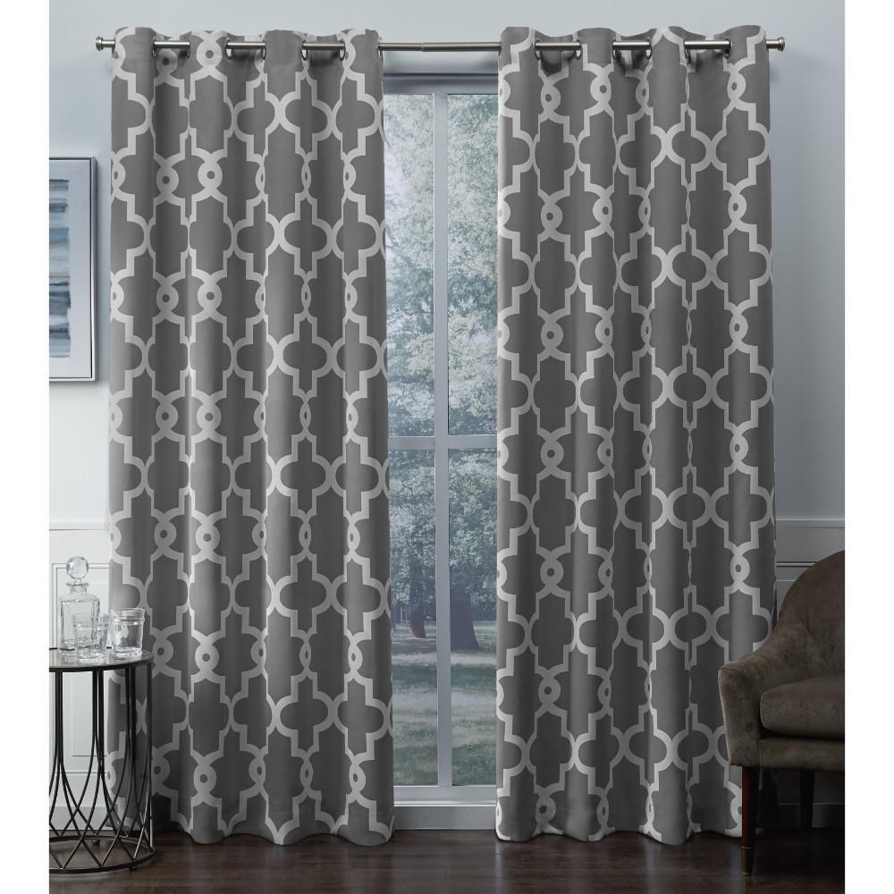 Exclusive Home Curtains Ironwork 52 In W X 84 In L Woven