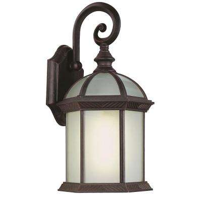 Stewart 1-Light Rust Outdoor CFL Wall Lantern