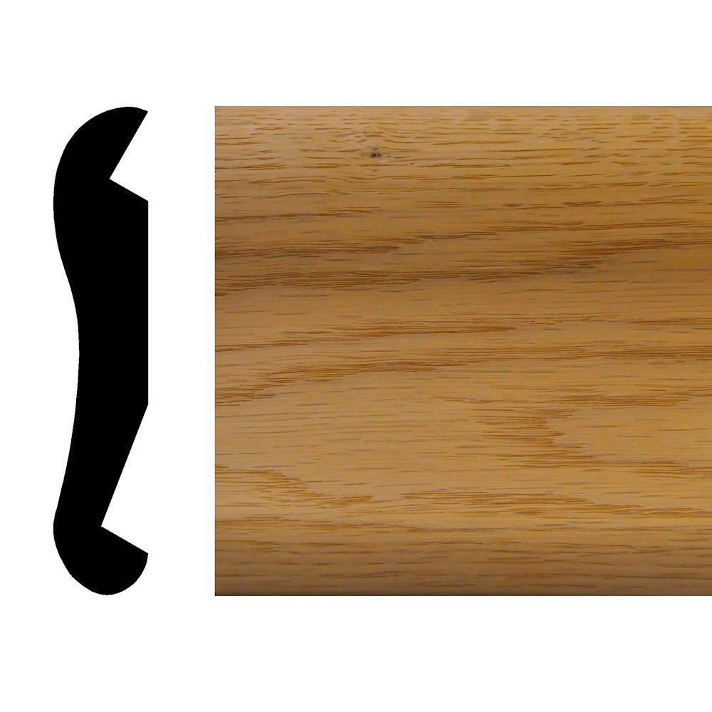 7/8 in. x 4-1/2 in. x 72 in. Oak Bar Rail Moulding