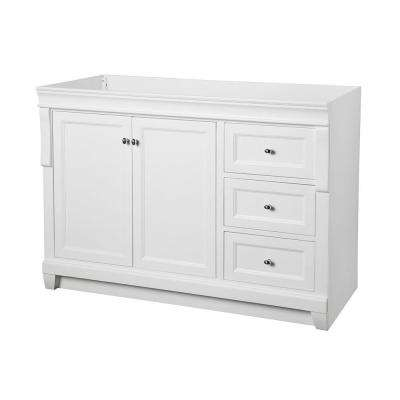 Naples 48 in. W Bath Vanity Cabinet Only in White