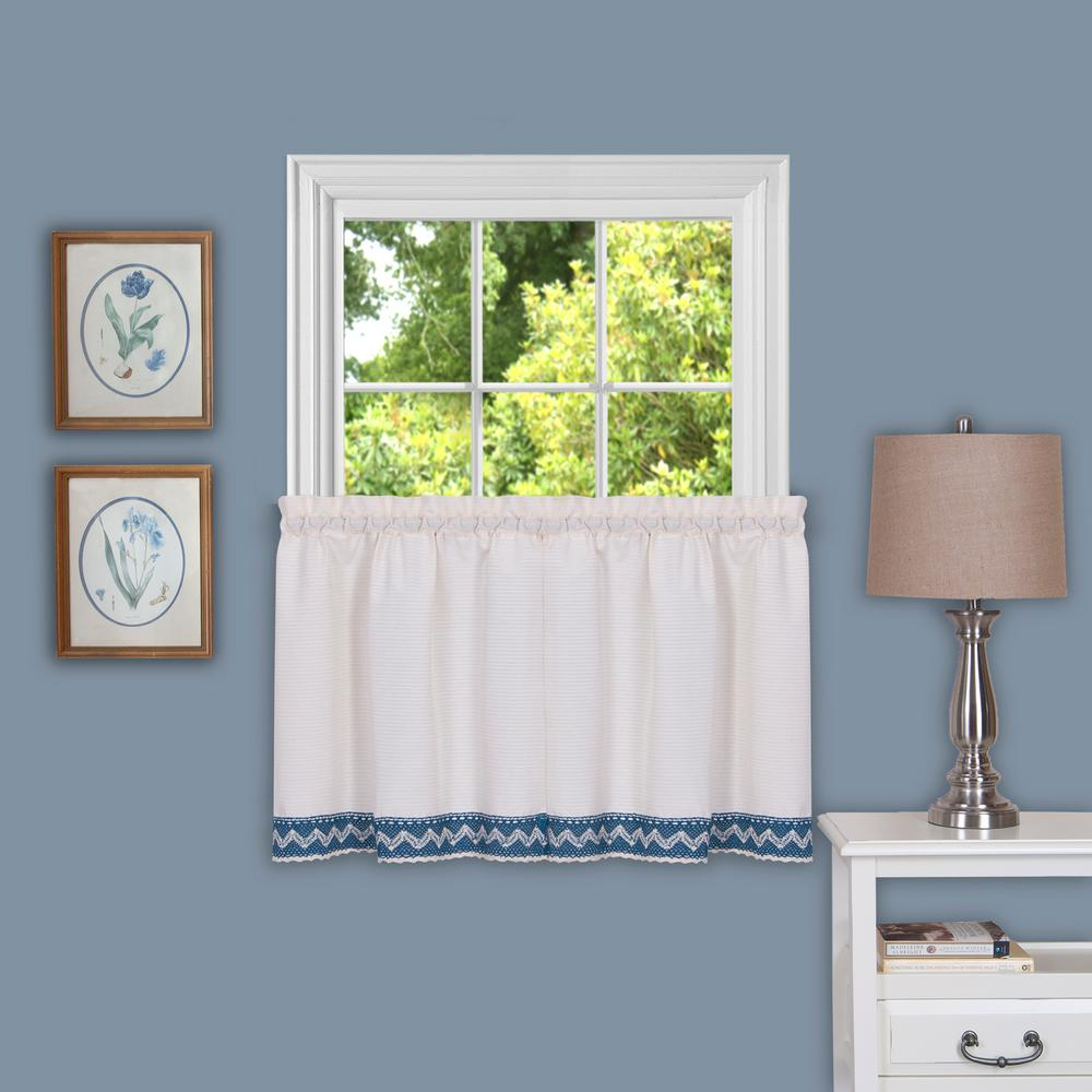 Sheer Camden 36 in. L Polyster Window Curtain Tier Pair in