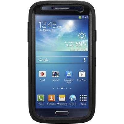 Defender Cell Phone Case for Samsung Galaxy S4 - Black