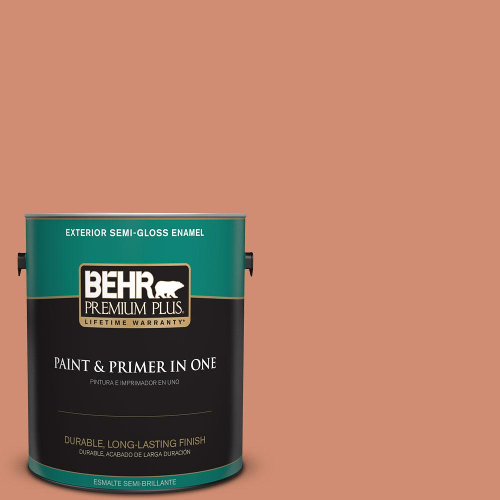1-gal. #ICC-63 Terra Cotta Pot Semi-Gloss Enamel Exterior Paint