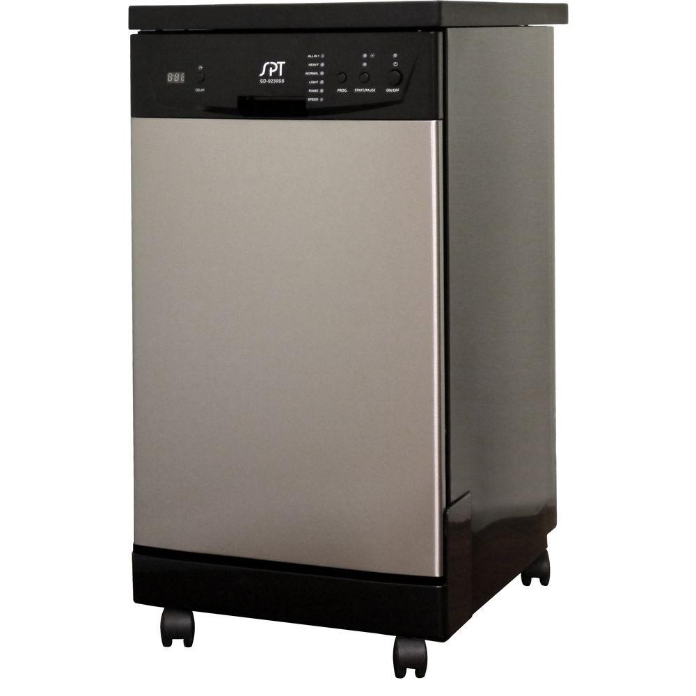 SPT 18 in. Front Control Portable Dishwasher in Stainless Steel with Energy Star-DISCONTINUED