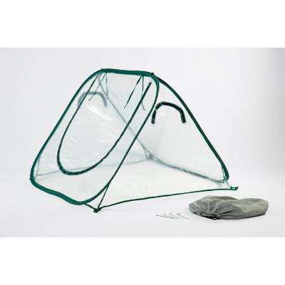 SeedHouse Clear 48 in. D x 48 in. W x 34 in. H Pop-Up Portable Clear Greenhouse