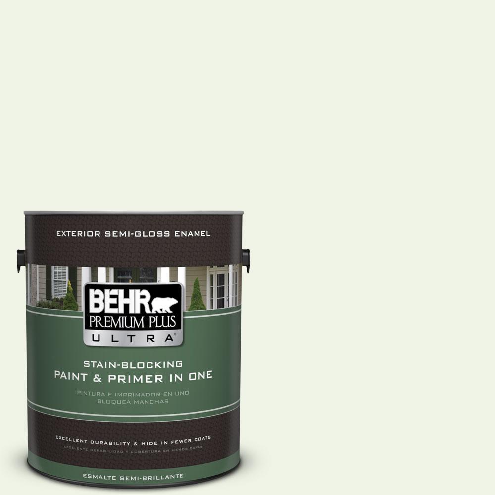BEHR Premium Plus Ultra 1-gal. #PPL-37 Aspen Whisper Semi-Gloss Enamel Exterior Paint