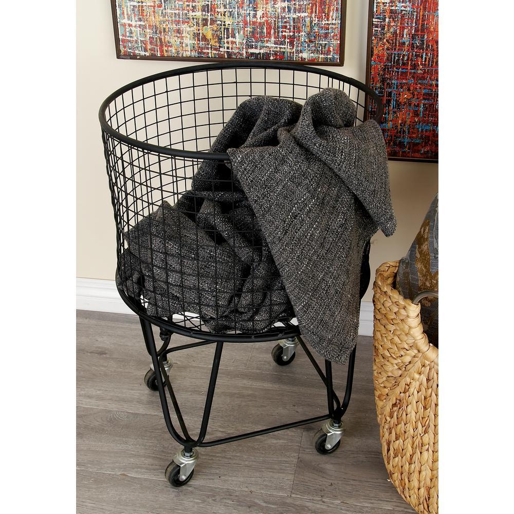 Sterilite 2 1 Bushel Black Laundry Hamper 12019006 The