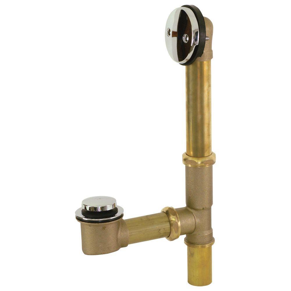 Brass 20-Gauge Tip-Toe Bath Waste