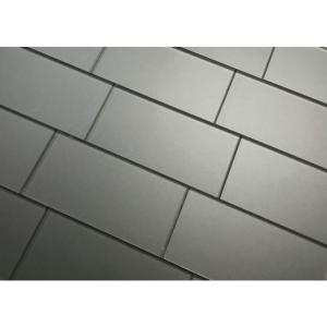 Forever Royal Gray Straight Edge Subway 3 in. x 6 in. Matte Wall Tile Sample