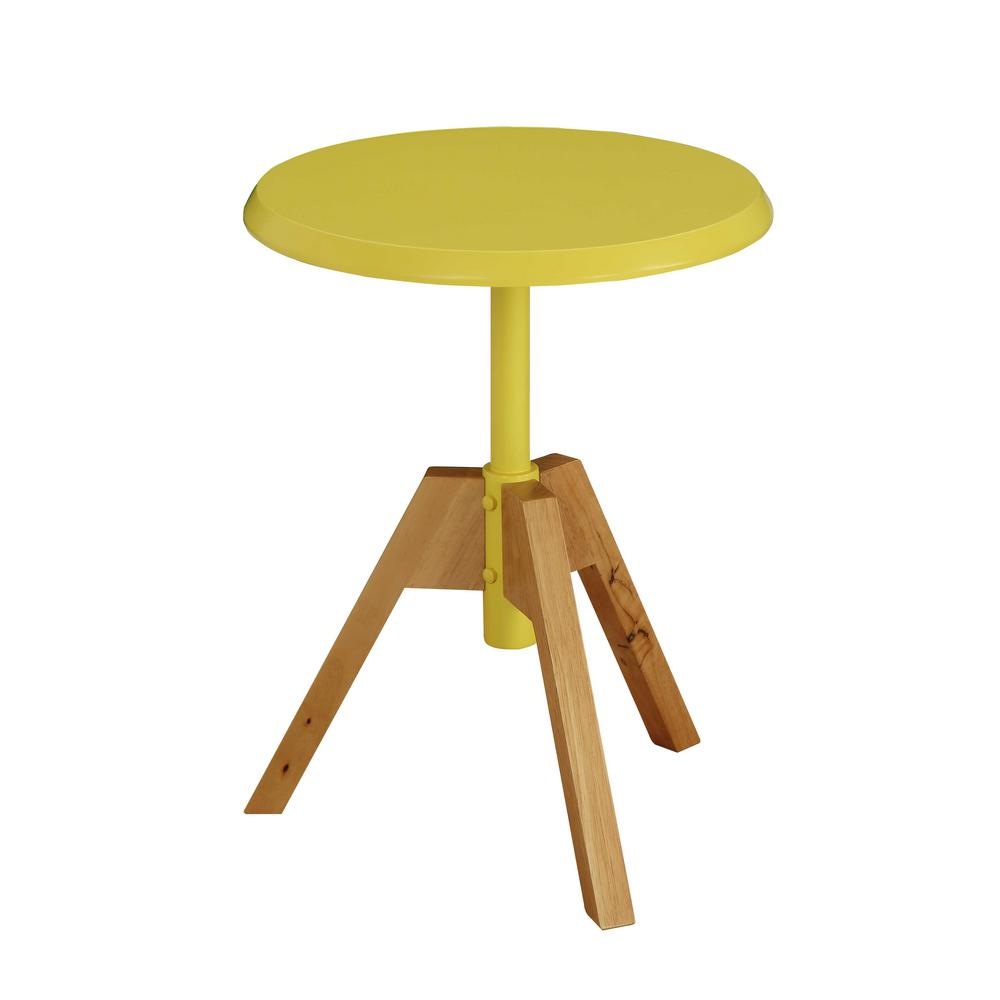Yellow end tables accent tables the home depot lumina geotapseo Choice Image