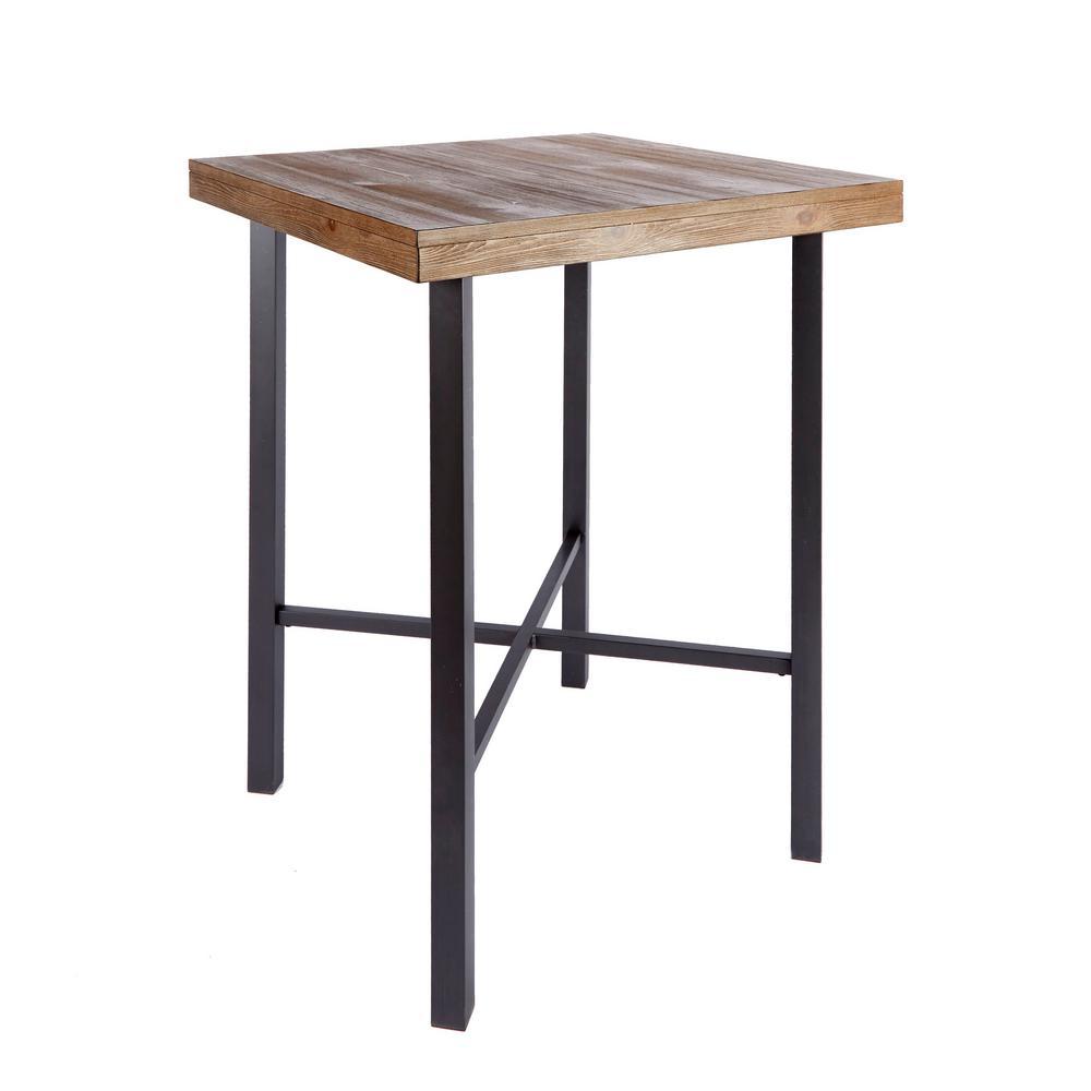 Fowler Industrial Brown Bar Table