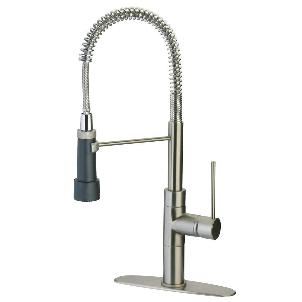Latoscana Elba Single Handle Pull Down Sprayer Kitchen Faucet With High Arc Spring