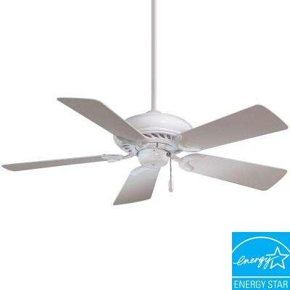 Supra 44 in. Indoor White Ceiling Fan