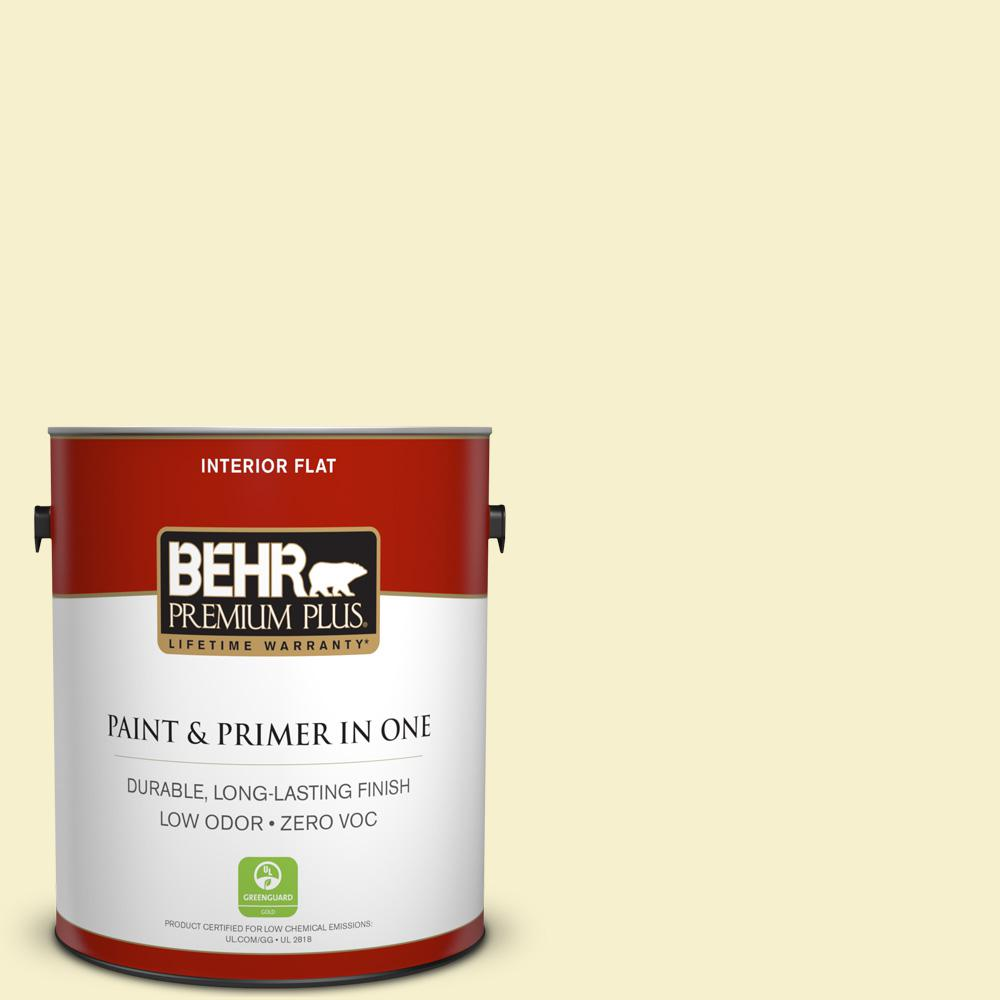 1 gal. #380C-2 Desert Lily Flat Zero VOC Interior Paint and