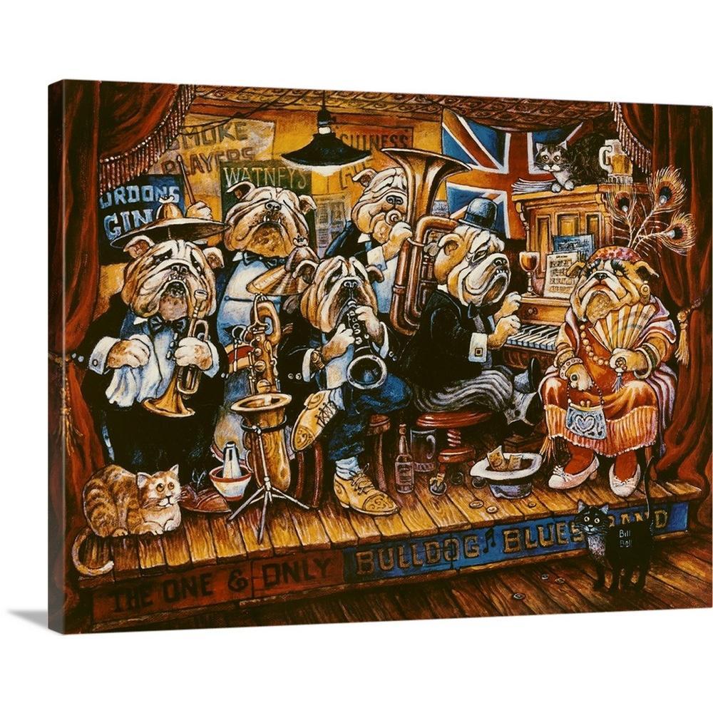 """Bull Dog Blues Band"" by Bill Bell Canvas Wall Art"