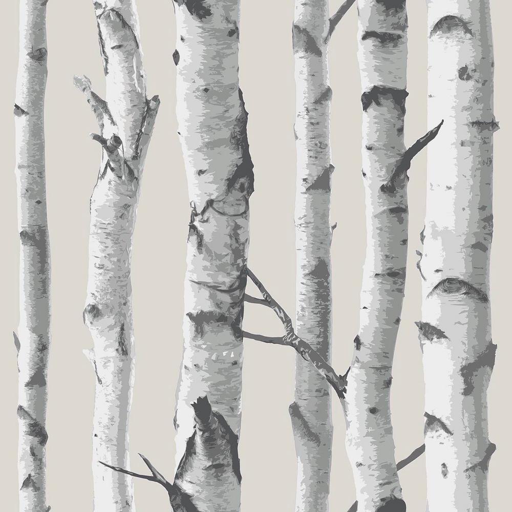 NuWallpaper 30.75 sq. ft. Birch Tree Peel and Stick Wallpaper NU1650HD2