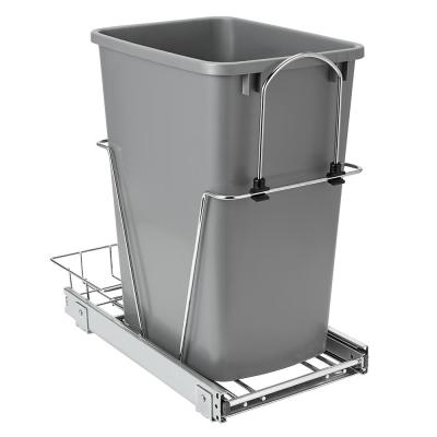 23 in. D x 11 in. W x 20 in. H Single 35 qt. Pullout Waste Bin Metal Closet System in Gray