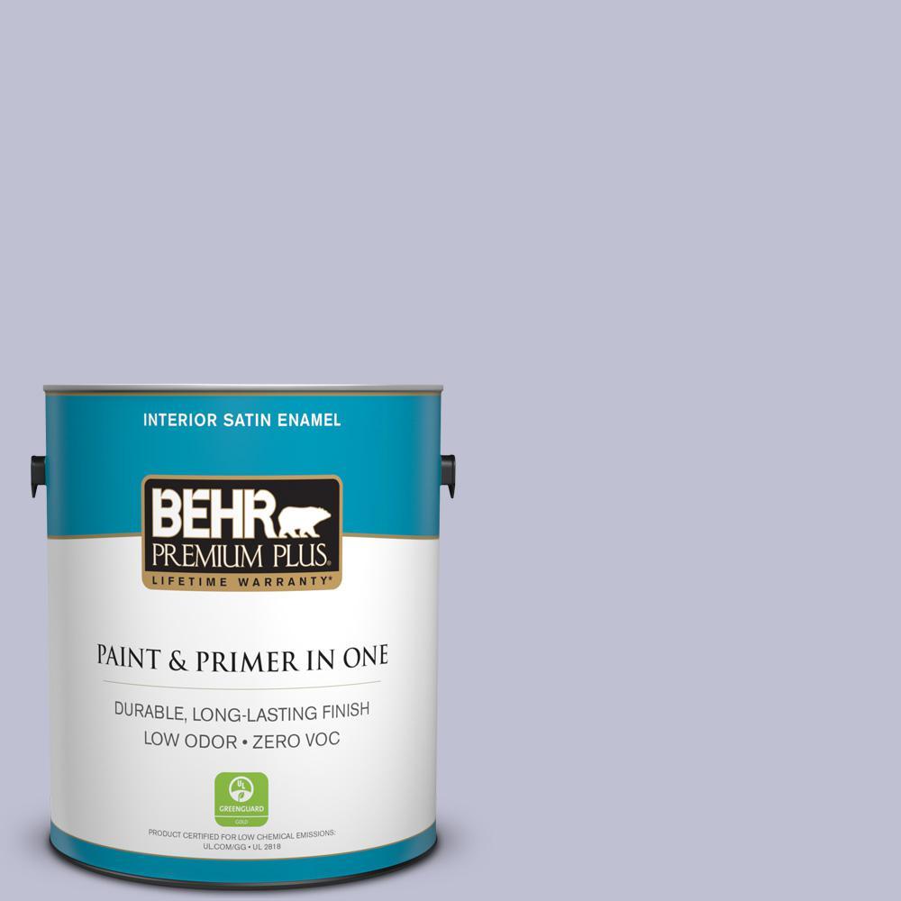 BEHR Premium Plus 1-gal. #S560-2 Lavender Honor Satin Enamel Interior Paint