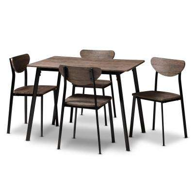 Ornette 5 Piece Light Brown Dining Set