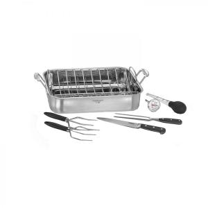 Click here to buy Cuisinart 6 inch Roaster Pan with Removable Rack (Option-2) by Cuisinart.